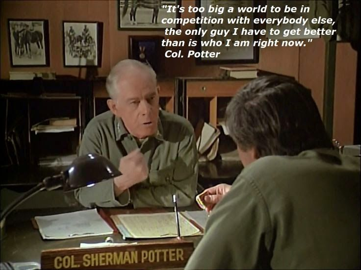 It's Too Big A World Colonel Potter Quotes