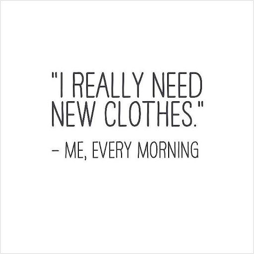 I Really Need New Clothes Fashion Quotes