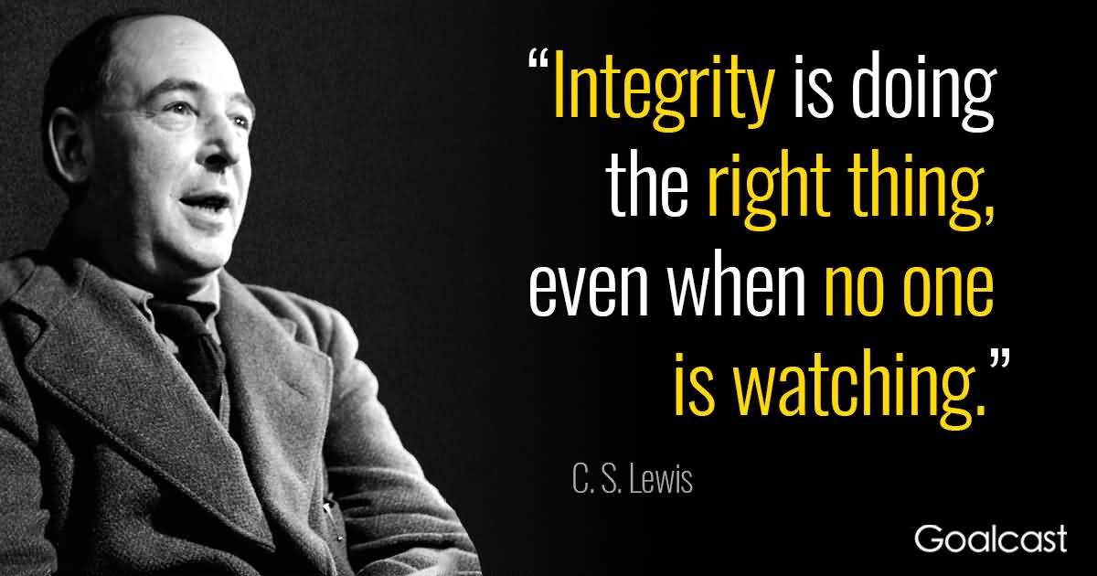 Integrity Is Doing The Doing The Right Thing Quotes