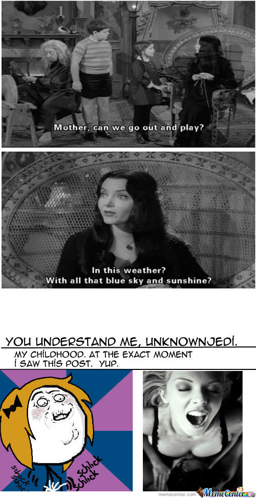 Mother Can We Go Out Addams Family Meme