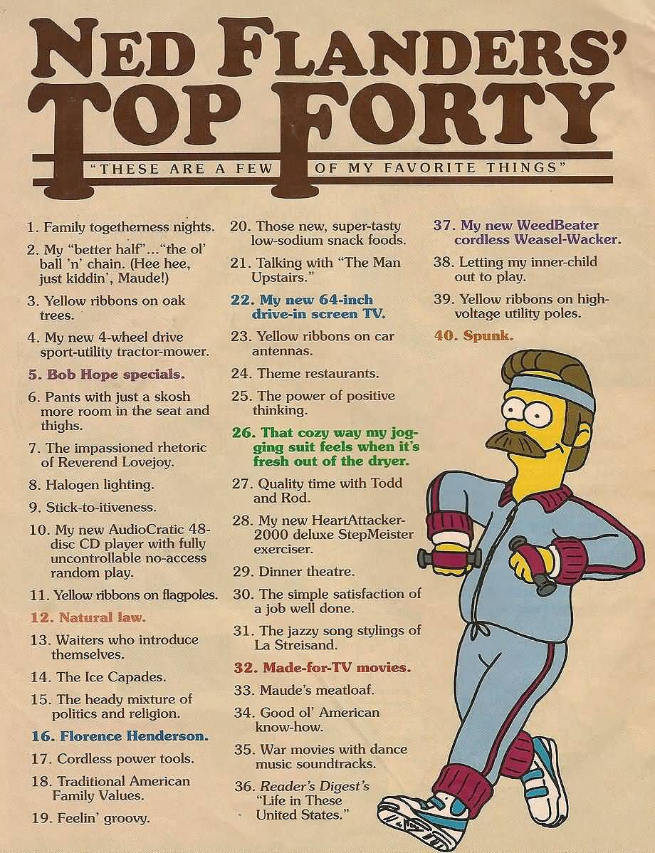 Ned Flanders Top Forty Ned Flanders Quotes
