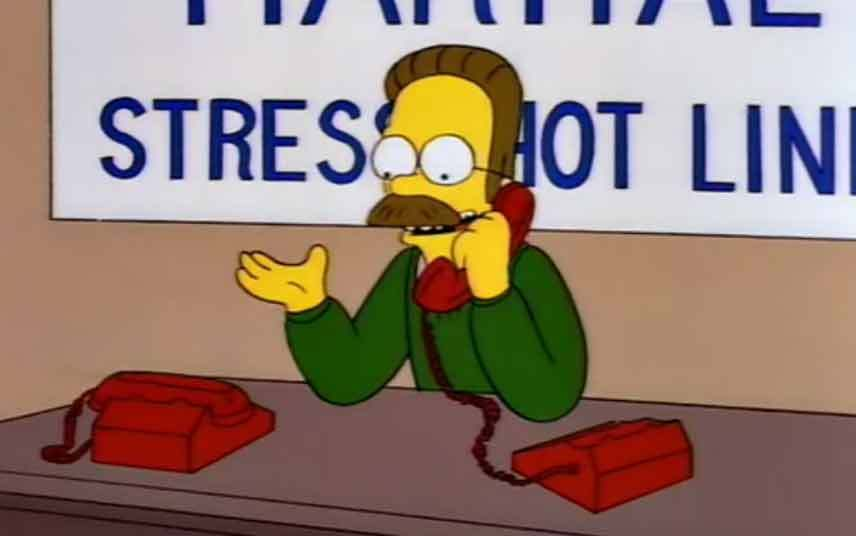 Stess Not Line Ned Flanders Quotes - Preet Kamal