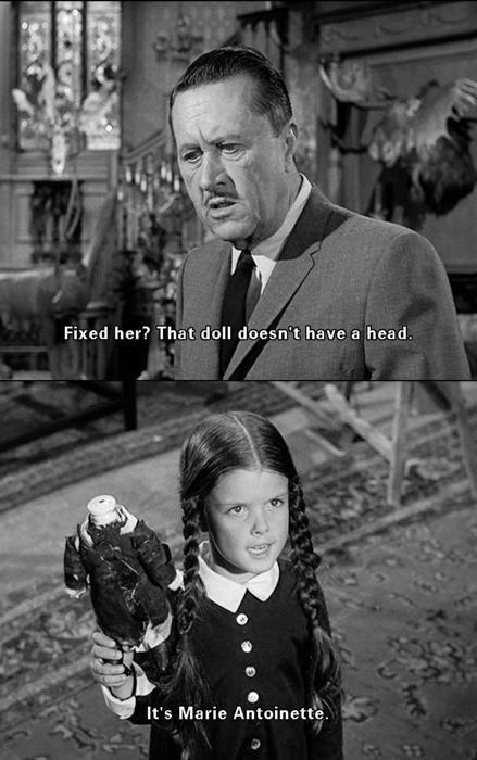 That Doll Doesn't Have Addams Family Meme