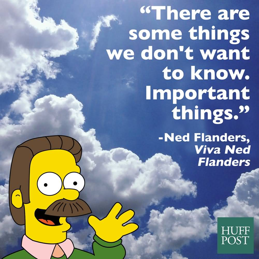 There Are Some Things Ned Flanders Quotes
