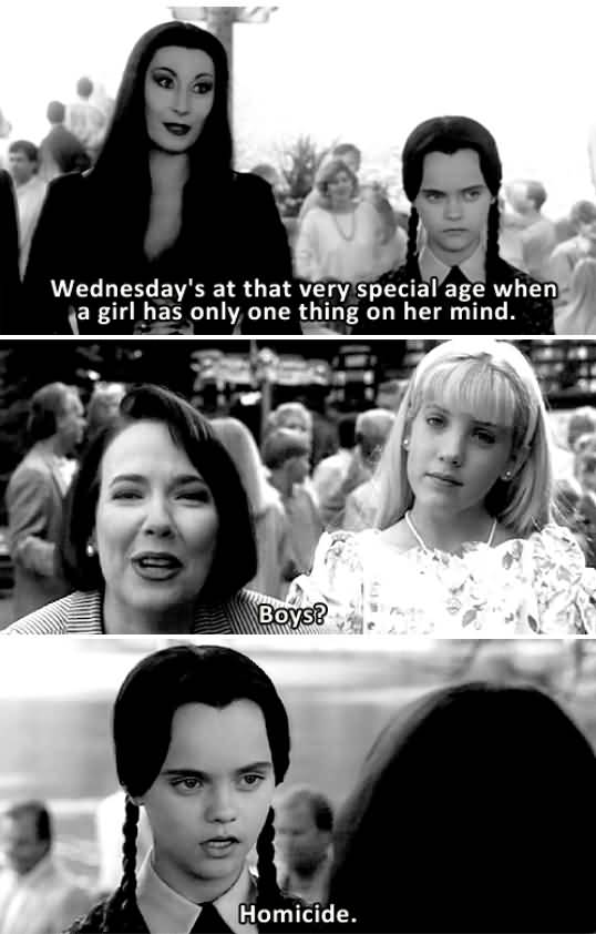 Wednesday At That Very Addams Family Meme