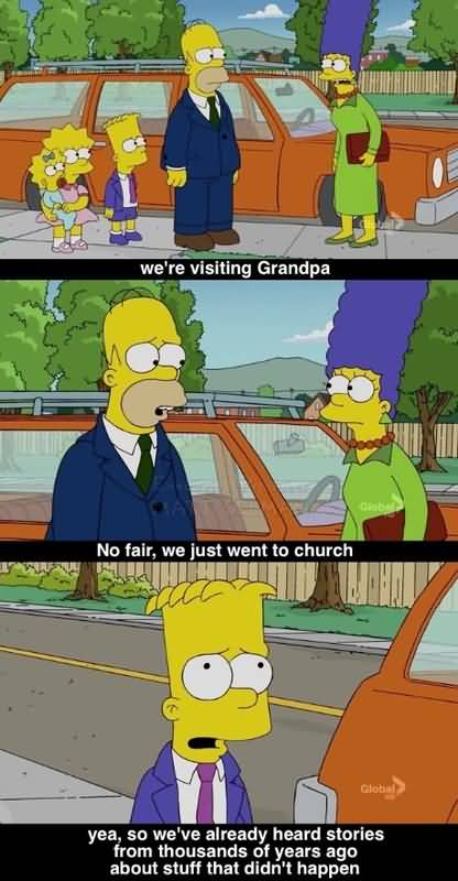 We're Visiting Grandpa Ned Flanders Quotes
