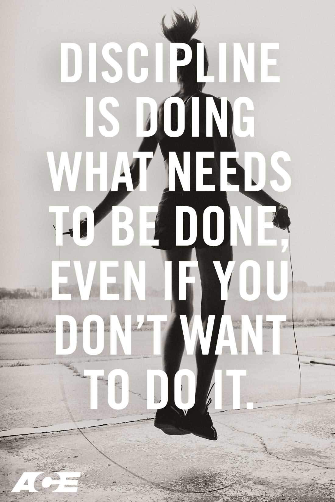 Discipline Is Doing What Fitness Quotes