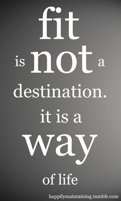 Fit Is Not A Destination Fitness Quotes