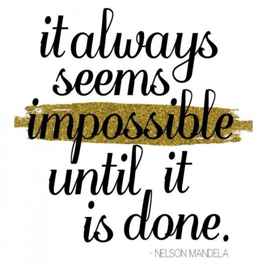 It Always Seems Impossible Fitness Quotes
