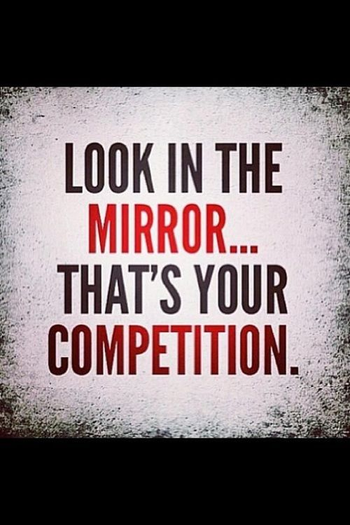 Look In The Mirror Fitness Quotes