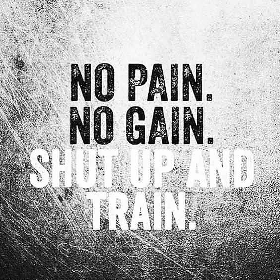 No Pain No Gain Shut Fitness Quotes
