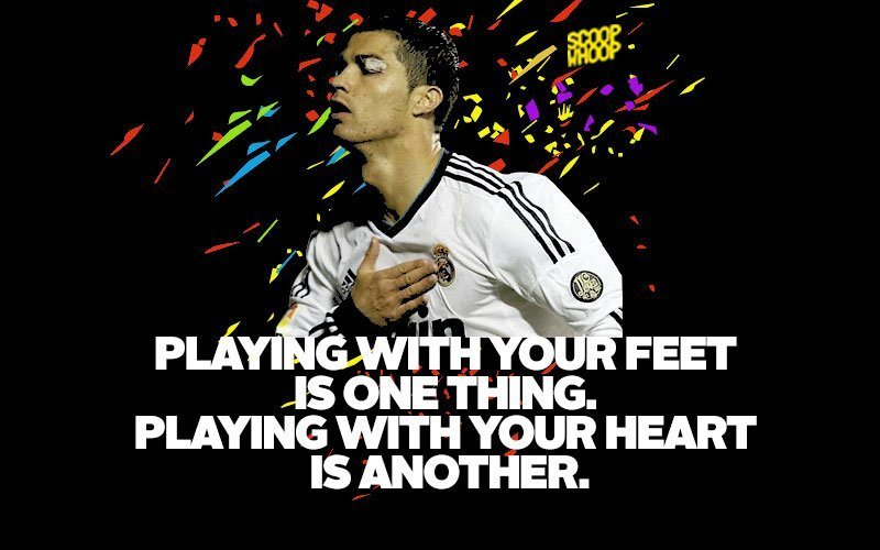 Playing With Your Feet Football Quotes
