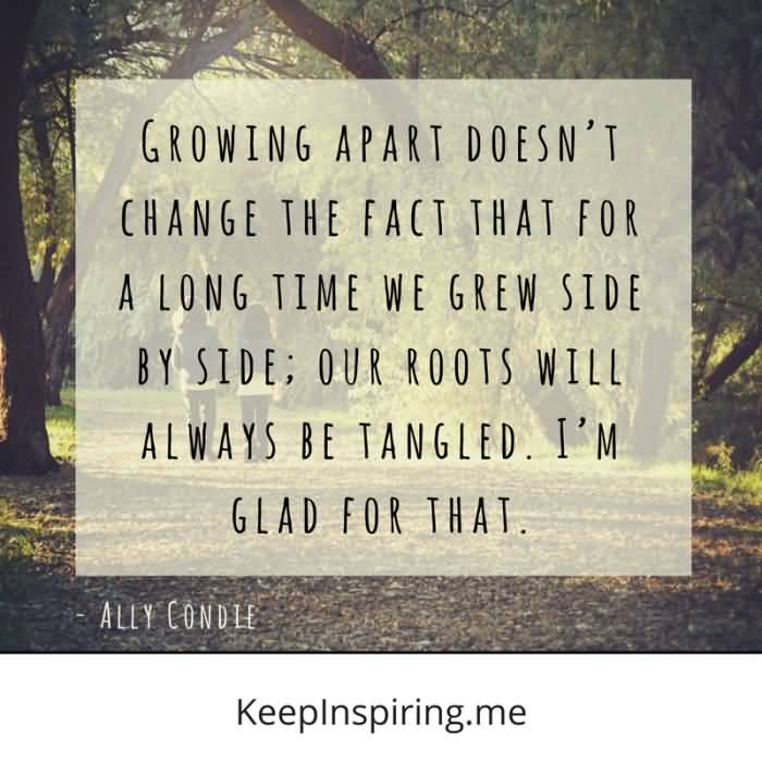 Growing Apart Doesn't Change Friends Quotes