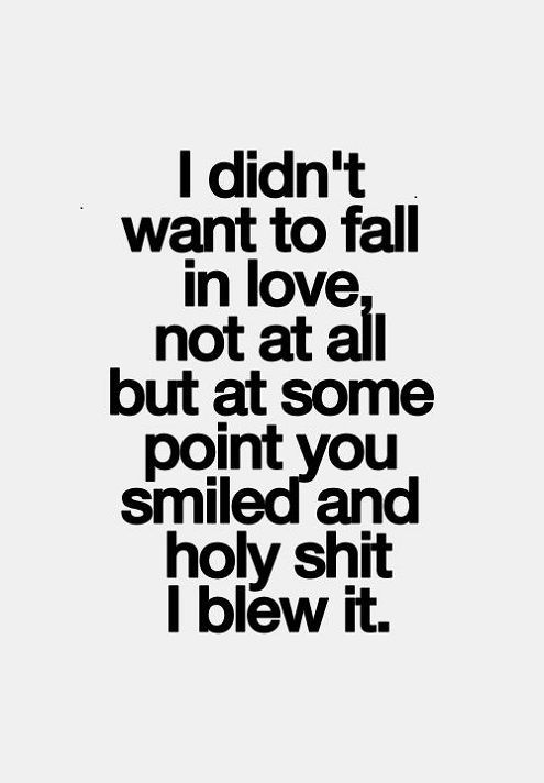 I Didn't Want To Fall Funny Love Quotes
