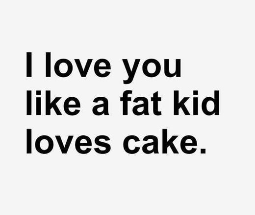 I Love You Like A Fat Funny Love Quotes