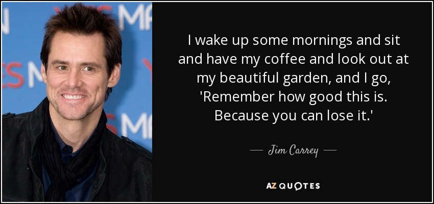 I Wake Up Some Jim Carrey Quotes
