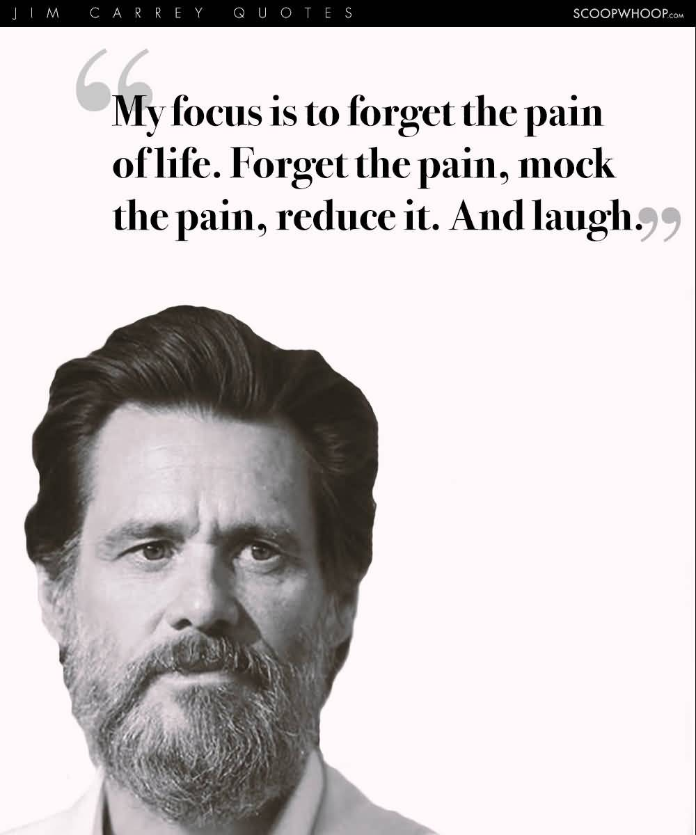 Jim Carrey Quotes My Focus Is To