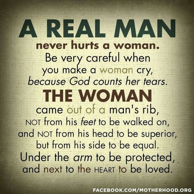 A Real Man Never Hurts