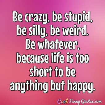 Be Crazy Be Stupid