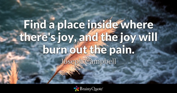 Find A Place Inside Pain Quotes