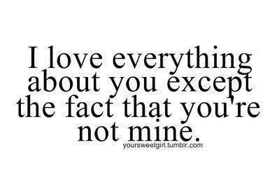 I Love Everything About Love Pain Quotes