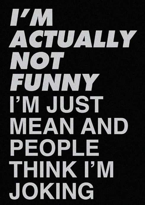 I'm Actually Not Funny Funny Quotes