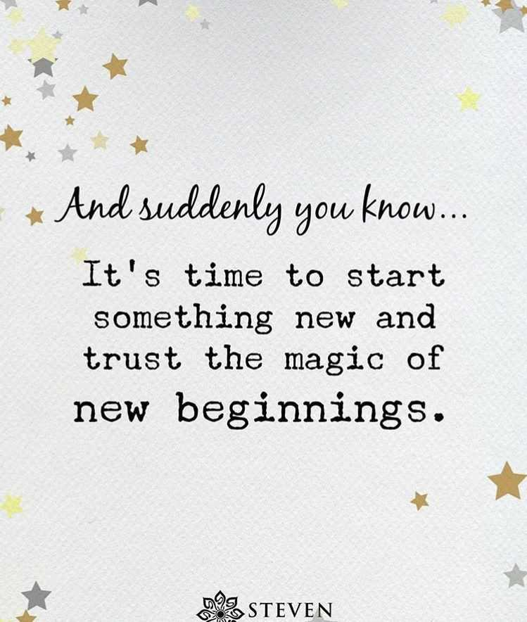 It's Time To Start New Life Quotes
