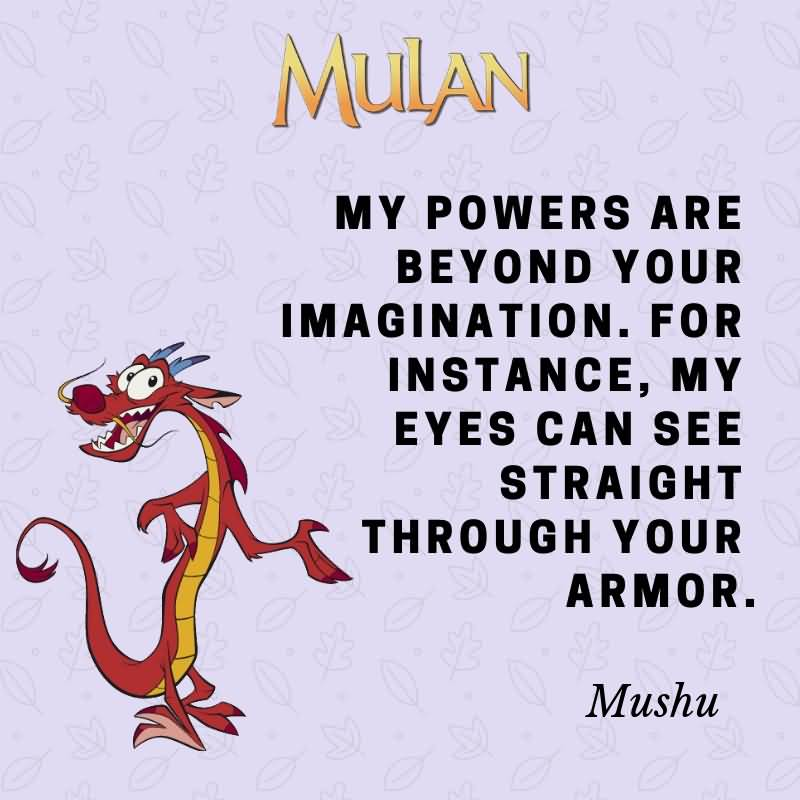 My Powers Are Beyond Mushu Quotes