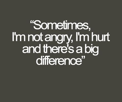 Sometimes I'm Not Angry Pain Quotes