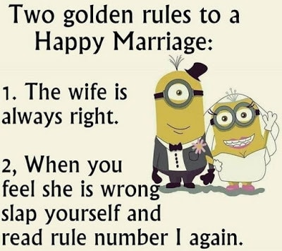 Two Golden Rules Funny Anniversary Quotes