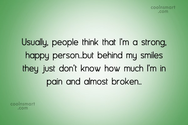 Usually People Think That Pain Quotes