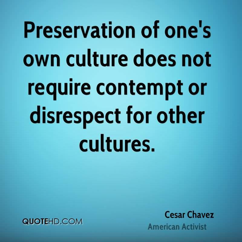 Disrespect For Other Cultures Cesar Chavez Quotes